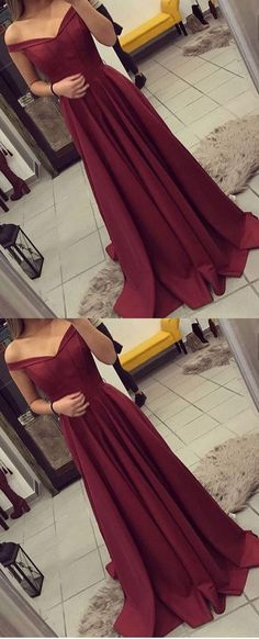 Sexy Prom Dresses,Burgundy Prom Dress,Prom Dress, Long Formal