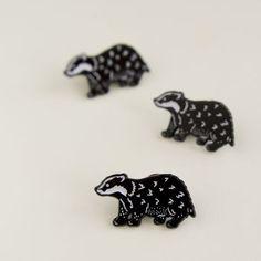 Badger Enamel Pin