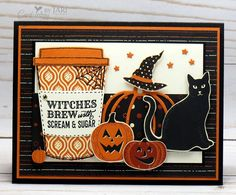 Stampin' Up! Merry Cafe Halloween-Cardiology by Jari