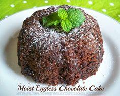 Simply Sweet 'n Savory: Moist Eggless Chocolate Cake