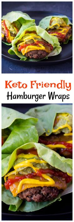 These Hamburger Lettuce Wraps are totally Keto Friendly and perfect for if you are looking for an amazing hamburger while on the Keto diet. Easy to make Hamburger Lettuce Wraps. #KetoDiet