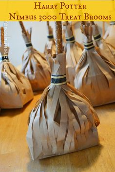 These would also be great for Halloween! Harry Potter Party Favors: Nimbus 3000