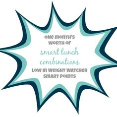 Smart Lunches with Low Weight Watcher Smart Points