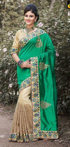 Buy Designer sari bollywood wedding silk saree indian bridal sarees blouse saris #designer #SariSaree