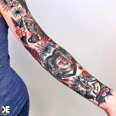"""377 Likes, 5 Comments - ⚡️PABLO DE⚡️ (@pablo_de_tattoolifestyle) on Instagram: """"Part of arm!!!Thanx @elisa_betti_84 !!! Pablo DE www.tattoolifestyle.it"""""""