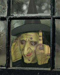 halloween decoration tapping witch scary peeper the true to life motion activated
