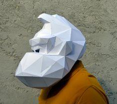 Donkey Kong Mask. PaperCraft Mask Paper Gorilla by PlainPapyrus