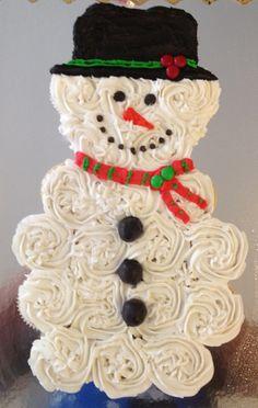 Frosty cupcake cake