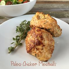 These paleo chicken meatballs are sweet and savory, but they're also light tasting. Plus the apple chunks make for a great surprise flavor to the dish. Chicken Meatballs, The Dish, Paleo Recipes, Cauliflower, Healthy Living, Dishes, Vegetables, Apples, Sweet