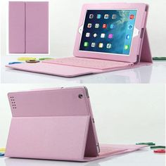 Top Quality For iPad 2 3 4 Protective Cover Built-in Silicone Bluetooth Keyboard Keyset Stand PU Leather Case MAY23