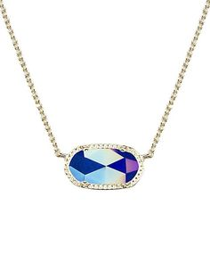 Elisa Pendant Necklace in Iridescent Cobalt - Kendra Scott Jewelry