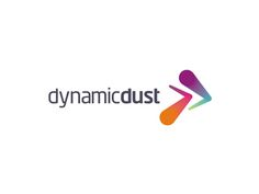 Dynamic Dust logo design for games and apps developer by Alex Tass
