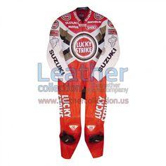 Daryl Beattie Suzuki Lucky Strike Leathers 1995 MotoGP - https://www.leathercollection.us/en-we/daryl-beattie-suzuki-lucky-strike-leathers.html Daryl Beattie, Lucky strike leathers, Suzuki leathers #DarylBeattie, #LuckyStrikeLeathers, #SuzukiLeathers