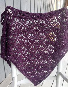 Crocheted shawl, purple shawl, crocheted wrap, purple wrap by OnceUponARoll, $65.00 USD