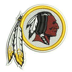 Washington Redskins machine embroidery design- 4x4, 5x7, 6x10 hoops