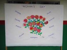 Resultado de imagem para mural dia internacional da mulher