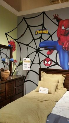 Spiderman themed room