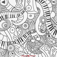 Musical Coloring Pages for Adults Awesome Grafittis De Piano Abstrato Textura Free Printable Coloring Pages, Coloring Book Pages, Coloring Sheets, Tattoo Painting, Music Doodle, Music Crafts, Doodle Coloring, Music Pictures, Music Classroom