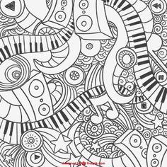 Grafiti abstracto de piano