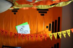 Garfield party decorations and banner by denna's ideas