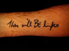 Tattoo. I like the font.
