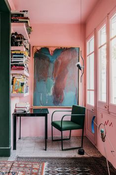 A colourful space to think and create, featuring Arcos by #LievoreAltherr. Ph: Salva Lopez