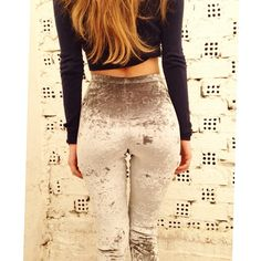 The PCP Grey Velvet leggings
