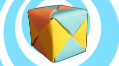Modular Origami Sonobe Cube (6 units) Instructions #origami #video #howto