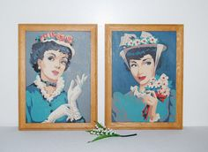 Vintage Ladies Paint By Numbers with Hats by CheekyVintageCloset, $62.00