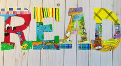 Storybook Nursery, Read Letters, Bulletin Board Letters, Letter Set, Book Lovers Gifts, Art Classroom, Teacher Gifts, Book Art, Lettering