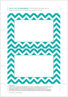 little paper dog free printable chevron labels more labels free ...