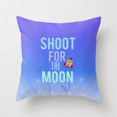 shoot for the moon inspirational nursery boys astronaut space ship blue stars