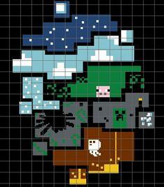 Minecraft Crochet Graph/Chart Pattern