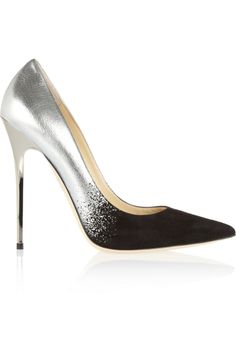 JIMMY CHOO | Luxury Shoes | Ombre Shoes | Shoes | Sexy Heels | ombre pumps | Silver Metallic pumps