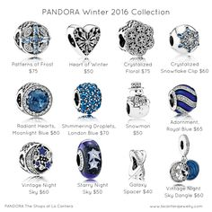 PANDORA at Midland Park Mall now has the Winter 2016 Collection. Adorn yourself with sparkling ice-inspired designs and classic Christmas charms. Pandora Beads, Pandora Bracelet Charms, Pandora Jewelry, Charm Bracelets, Pandora Pandora, Pandora Catalogue, Pandora Collection, Disney Charms, Watch Necklace