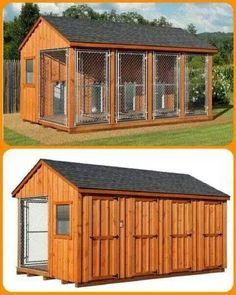 1000 ideas about dog kennels on pinterest dog boarding for Dog kennel shed combo plans