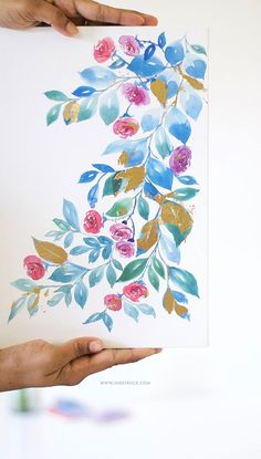 DIY gold leaf art wi
