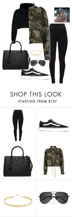 """Untitled #5"" by jacqueline-jj ❤ liked on Polyvore featuring Vans, Prada, Faith Connexion, Lana and Yves Saint Laurent"