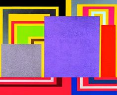 Peter Halley, Cartoon Network, 1997, acrylic, fluorescent acrylic, metallic acryilic, and Roll-a-Tex on canvas.