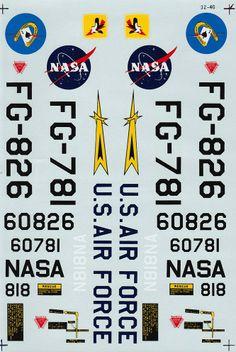 Super Scale Réf 32-40 - F104A Starfighter NASA (YF104A), 83rd FIS, 337th FIS http://maquettes-avions.hautetfort.com/archive/2013/12/30/decals-super-scale-1-32e.html