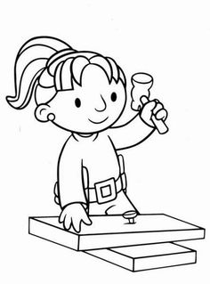 Cartoons Clip Art Bob The Builder School Coloring Pages, Colouring Pages, Coloring Books, Christian Preschool, School Frame, Oh My Fiesta, Coloring Sheets For Kids, Bob The Builder, Construction Theme