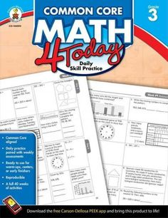 Build a foundation and focus on what matters most for math readiness with Common Core Math 4 Today: Daily Skill Practice for third grade. This 96-page comprehensive supplement contains standards-align