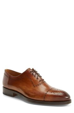 Magnanni 'Santi' Leather Cap Toe Oxford (Men) available at #Nordstrom