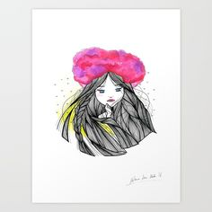 Sweet Cloud Art Print by Melanie Arias. Worldwide shipping available at Society6.com. Just one of millions of high quality products available.