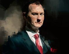 Mycroft Holmes by Namecchan. // Mycroft looking very...crofty.