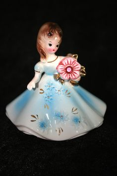 Vintage Josef Originals Porcelain Birthstone Figurine Doll October