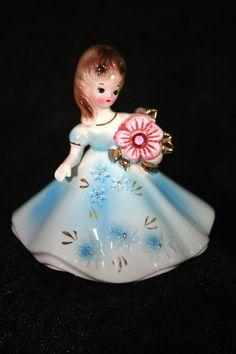 Vintage Josef Originals Porcelain Birthstone Figurine Doll October