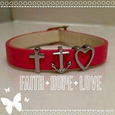 KEEP Jewelry: Faith Hope Love Bracelet