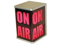Sandies 343-110 On-Air three-sided light. Runs on 110 AC current. List price = $80.00.  We'll need one for each studio.