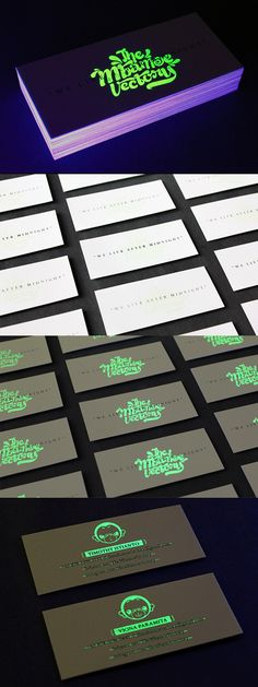Clever Glow In The Dark Business Card For A Design Company. Such a creative and cool design!